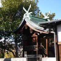 Tatsumi Hachiman Jinja Shrine 辰巳八幡神社 御神殿, Амагасаки