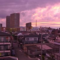 七松町からフェスタ立花方面(夕景), Амагасаки