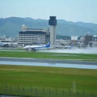 Itami airport  Glide slope after the rain, Итами