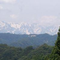 白馬岳と大雪渓 信州小川村, Каваниши