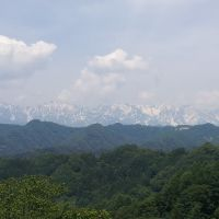 北アルプス白馬連峰、白馬三山 信州小川村より, Нишиномия