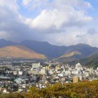 別府湯けむり展望台 (右側に虹), Тоёока