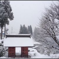 Entrance of the South Gate of Kozanji Temple, Ogawa village, Озу