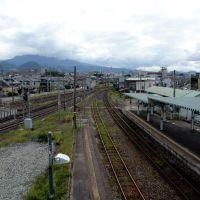 北山形駅 渡り回廊より, Ионезава