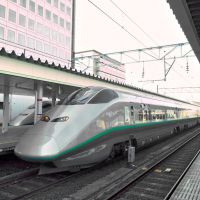 Yamagata Shinkansen(Bullet Train) Yamagata Sta. 山形駅 山形新幹線 E3系, Саката
