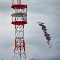 """Carp streamer """"Koinobori"""" NTT東日本山形支店 本町ビル 「ビルより高い鯉のぼり」, Тсуруока"""