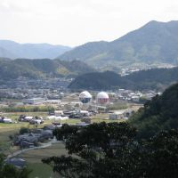 山口市 姫山 神社から眺め 山口合同ガス, Токуиама