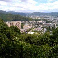 鴻峯登山 山口大神宮コース 稲荷神社付近  県庁, Убе
