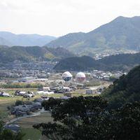 山口市 姫山 神社から眺め 山口合同ガス, Хаги