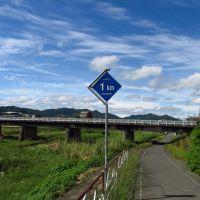 山口市から1km地点, Хофу