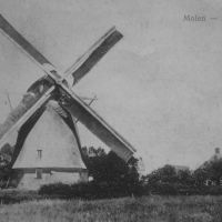 Windmill at Hancate in 1916 nearby family van der Vegt, Альмело