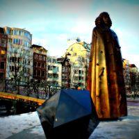 "Statue ""Spinoza"" (sculptor Nicolas Dings, 2008) - Amsterdam - The Netherlands, Амстердам"