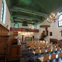 Velsen-Zuid - Kerkplein - 12th Century Engelmunduskerk - View WSW, Велсен