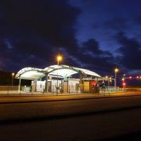 Den Helder, Zahlstation Texelfähre, Blue Hour, Ден-Хельдер