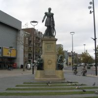 Statue king Willem II, Tilburg, The Netherlands, Тилбург