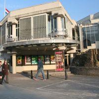 Former Music Center Vredenburg (1979-2008 by H. Hertzberger) and remnant Castle Vredenburg (1529-1577); Utrecht, may 2007, Амерсфоорт