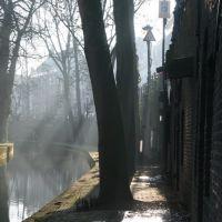 Foggy Nieuwegracht aan de Werf, Utrecht., Амерсфоорт