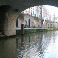 Glimpse of a tower underneath Brigitten bridge, Utrecht, Амерсфоорт