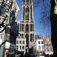 De Dom vanaf Choorstraat hoek Maartensbrug, Utrecht, Амерсфоорт