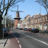 Adelaarsstraat met molen Rijn en Zon, Utrecht., Амерсфоорт
