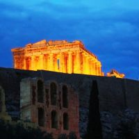 Parthenon by Night (Acropolis, Athens, Greece), Афины