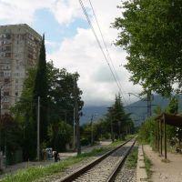 Обновленная чугунка в Абхазии, Гагра