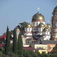 Вид на Новоафонский монастырь, Новый Афон