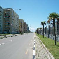 Seaside street in Batumi, Батуми