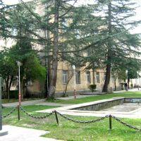 Bosom of Writer-Academician Konstantine Gamsakhurdia Near of Municipality Council of Abasha-მწერალ-აკადემიკოს კონსტანტინე გამსახურდიას  ბიუსტი საკრებულოს მიმდებარე ტერიტორიაზე, Абаша