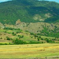 View to the Zanavi Fortress on the way to the Chule Monastry / ზანავის ციხე, Адигени