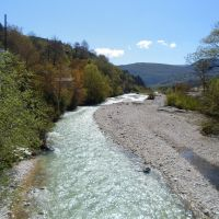 Rioni river. Racha region. Georgia, Амбролаури