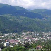 ამბროლაური/Ambrolauri town. Ratcha region, Georgia, Амбролаури