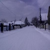 Sulkhan-saba orbeliani st. in winter, Болниси