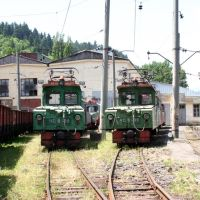 Borjomi, kisvasúti fűtőház - Depot of the narrow gauge railway in Borzhomi, Боржоми