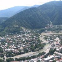 Panorama of Borjomi in Summer, Боржоми