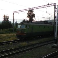 Two VL11M locomotives at Gori train station, Гори