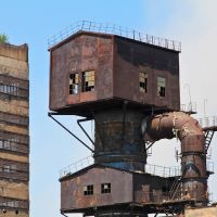 Steampunk, ex-USSR plants near Kutaisi, Зестафони