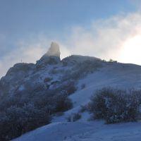 kojori fortress in winter, Коджори