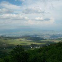 Mountain Mtatsminda seen from Kojori, Коджори
