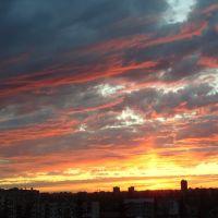 Kutaisi. Red clouds., Кутаиси