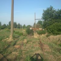 disused railway branch line to the tank farm (also abandoned), Орджоникидзе