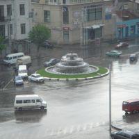 Avlabari square.rainy, Тбилиси
