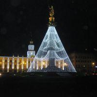 Грузия-Тбилиси-пл.Свободы перед новым годом, Тбилиси
