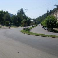 Tkibuli - Gamsakhurdia Street, Ткибули