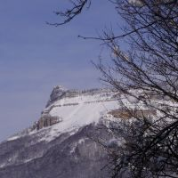 Tkibuli/Winter - View to Mount Tskhrajvari, Ткибули
