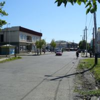 One of the streets in the middle of Khobi, Хоби