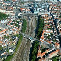 Railroad tracks in Aarhus, Aerial, Орхус
