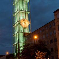Aarhus City Hall (Rådhus) Clock Tower at Night, Орхус