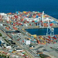 Aarhus, Container Harbour, Aerial, Орхус