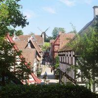 Århus; Den gamle By, Blick vom Schulhaus Richtung Marktplatz, Орхус